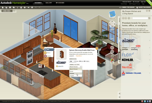 Dise ar casas online con autodesk homestyler 3d design application