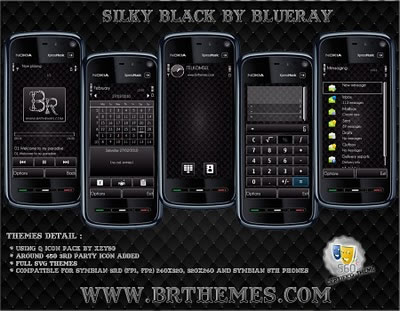 temas symbian silky black Temas para Nokia gratis