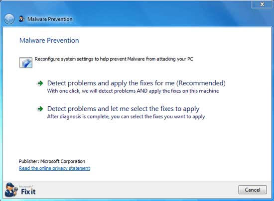 Microsoft Malware Prevention Troubleshooter Microsoft Malware Prevention Troubleshooter