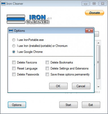 Optimizar el Google Chrome con IronCleaner